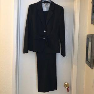 Tahari Navy Blue Pinstripe Suit